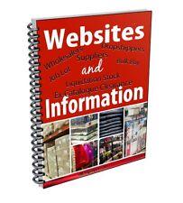 2017 Directory of Wholesalers, Dropship, Liquidation Stock, Clearance, Job Lots