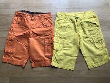 Lot of 2 Dognose and Crash One shorts, orange and yellow, EUC, size 11-12