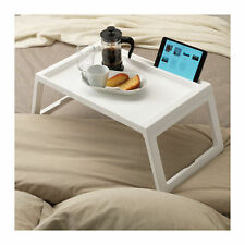 IKEA FOLDING BED TRAY WHITE SPACE SAVER BREAKFAST TABLET IPAD PHONE WIRE HOLDER