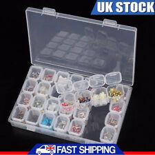 28 Slots Diamond Painting Accessories Box Embroidery Case Geometric Storage Box