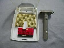 Vintage 1962 Gillette Slim Adjustable Safety Razor w Original Case H1