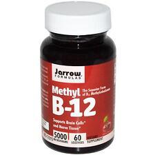 Jarrow Formulas la vitamina B-12 - 60 - 5000mcg PASTIGLIE-sapore di Ciliegia B12 di metile