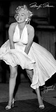 Licensed Marilyn Monroe Black and White Dress Fiber Reactive Beach/Bath Towel