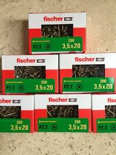 Fischer Power-fast screws 3.5 x 20mm box of 200.     +++Premium Quality+++