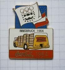COCA-COLA / OLYMPISCHE SPIELE INNSBRUCK 1964 TRUCK ... Pin (109i)