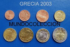 EUROS GRECIA 2003 Serie completa S/C - GREECE SET
