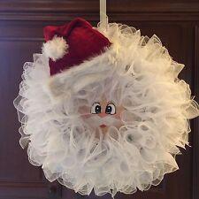 Santa Wreath,Christmas Wreath,Front Door Wreath,Country Wreath