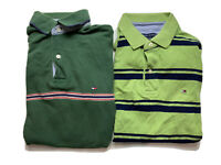 x2 Tommy Hilfiger Mens Polo Shirt Size M Regular FIt