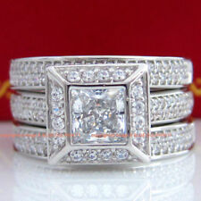 Solitaire with Accents White Not Enhanced Fine Rings