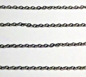 10m Antique Silver  Platinum Iron Oval Cable Chain 2mm x 3mm Nickel Free 2m