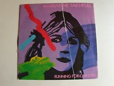 "MARIANNE FAITHFULL : Running for our lives 7"" 45T 1983 French ISLAND 811 411"
