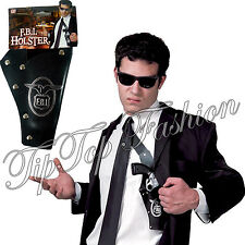 NEW FBI BLACK GANGSTER SHOULDER HOLSTER FANCY DRESS COSTUME POLICE ACCESSORY
