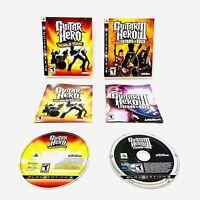 Guitar Hero III LEGENDS OF ROCK & WORLD TOUR PS3 Bundle Lot COMPLETE & WORKING