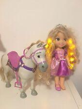 Rapunzel Hair Glow Doll And Maximus Horse