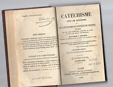 catechisme tout en histoires du concile de trente  abbe' c.poussin volume quarto