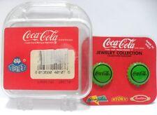 Coca-Cola - ORECCHINI TAPPO VERDI - cm.2
