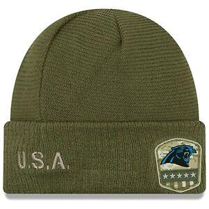 New Era NFL Carolina Panthers Salute to Service Knit Beanie Hat Cap Ski Winter