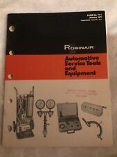 1977 Robinair Automotive Service Tools and Equipment Sales Catalog