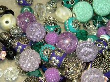 NEW 25/ Teal & Purples Jesse James Beads mixed LOT RANDOM PICK  Beads
