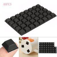 16.6mm x 16.6mm RUBBER BUMPER FEET Sticky Bumpons Polyurethane Clear Black EZ405