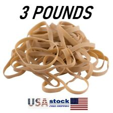3 Lbs. - #64 NATURAL RUBBER - Rubber Bands, Postal Size 3-1/2
