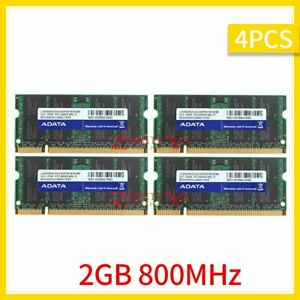 8GB 4x 2GB DDR2 800MHz PC2-6400S 2Rx8 SODIMM 1.8V Notebook Memory For DATA 777