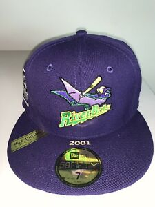 New Era Louisville Riverbats MILB 100th Anniversary Patch Fitted Purple Cap 7