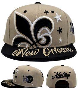 New Orleans New Leader Colossal Fleur De Lis Saints Gold Era Snapback Hat Cap