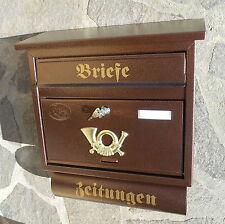 Moderner großer Briefkasten / Postkasten Kupfer + Zeitungsfach Katalogeinwurf P