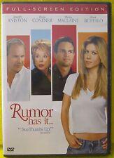 Rumor Has It (DVD, 2006, Full Frame) NEW