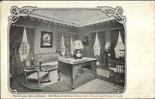 Boston MA Jordan Marsh Library, Suite of Rooms c1905 Postcard