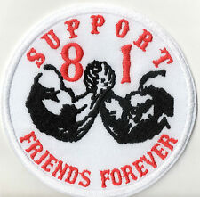Support 81 patch écusson Friends Forever MC Blouson nomades Red & White