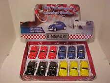 Pack of 12 VW Bug Volkswagen Beetle 1967 Die-cast Car 1:32 Kinsmart 5 inch