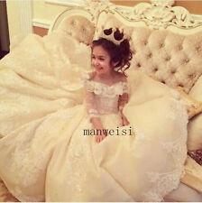 Luxury Flower Girl Princess Dresses Kid Party Pageant Wedding Bridesmaid Dress