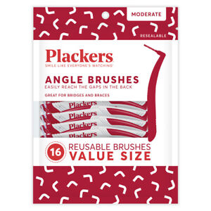 Plackers ANGLE Interdental Brushes Value pack - 48 count ( 3 bags of 16)
