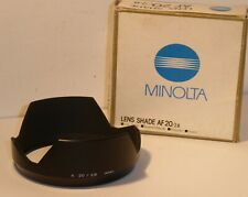 BOXED MINOLTA 20mm F2.8  LENS HOOD SHADE for the 20mm F2.8 AF LENS  (CH)