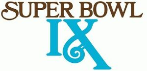 Pittsburgh Steelers Super Bowl IX Logo Decal