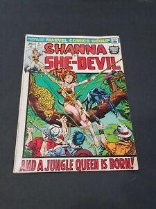 SHANNA THE SHE-DEVIL #1 FIRST APPEARANCE SHANNA 1972  RARE COPY MARVEL