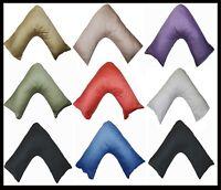 Luxury Satin Stripe 100% Cotton V Shaped Pillow with Pillow Case 73x34cm Size