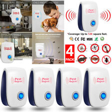 4Pack Ultrasonic Pest Control Repeller Reject Mosquito Insect Electronic US Plug