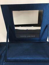 Estee Lauder Cosmetic Case Makeup Mirror Travel Toiletry Bag Ultramarine Blue