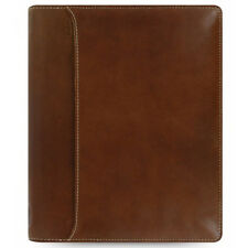 Filofax Lockwood A5 Zip Cognac Leather Organiser Brown Various Internal Pockets