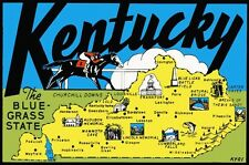 Vintage Travel Decal Replica Window Cling - Kentucky