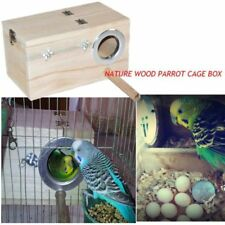 New listing Solid Wood Nest Box Nesting Boxes For Small Birds Parrot Budgies Finches 20cm