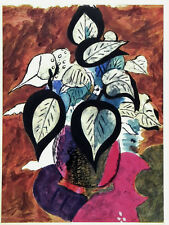 Colorful Georges Braque lithograph, Mourlot for Verve, 1955