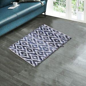 Rug 100% Natural Cotton 2x3 Feet Hand woven Area Carpet Rug Floor Mat Living Rug