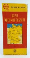 Road Map 1950's Shell Oil Deutschland Germany