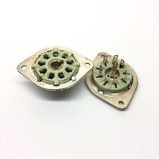 9 Broches B9G USA Made plaqué argent en Céramique Valve Tubes Socket Pour EF50 etc.