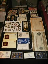 HUGE Junk Drawer Coin Lot Mint Proof Sets WWII Tokens Slabbed Coin Jewelry KNIFE