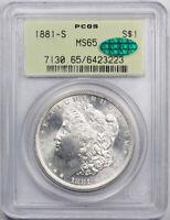 1881 S $1 Morgan Dollar PCGS MS 65 Uncirculated OGH CAC Cert#3223